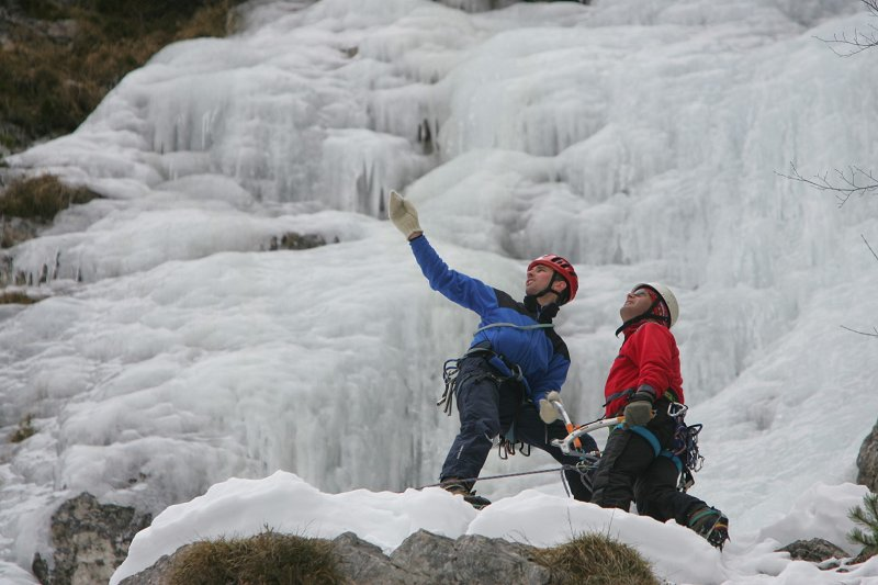 Klettergurt Eisklettern : Eisklettern soča tal slowenien